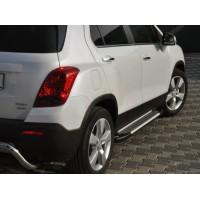 Боковые пороги Allmond Grey (2 шт., алюминий) для Chevrolet Trax 2012+