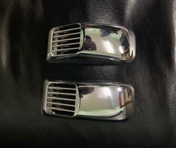 Chrysler C300 Решетка на повторитель `Прямоугольник` (2 шт, ABS)