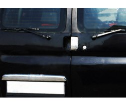 Citroen Berlingo 1996-2008 гг. Накладка над номером (Двухдверный, нерж.)
