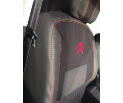 Citroen Berlingo 2008-2018 гг. Авточехлы (ткань+кожзам, Premium) Передние