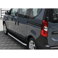 Боковые пороги Fullmond (2 шт., алюминий) для Dacia Dokker 2013+