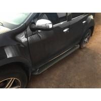 Боковые пороги Allmond Black (2 шт., алюминий) для Dacia Duster 2008-2018