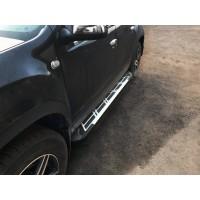 Боковые пороги Sunrise (2 шт., алюминий) для Dacia Duster 2008-2018