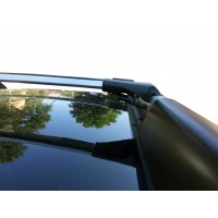 Перемычки на рейлинги под ключ (2 шт) 2008-2014, Черный для Dacia Duster 2008-2018