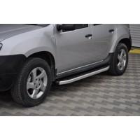 Боковые пороги Fullmond (2 шт, алюмин.) для Dacia Duster 2008-2018
