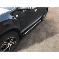 Боковые пороги Maya V1 (2 шт., алюминий) для Dacia Duster 2008-2018