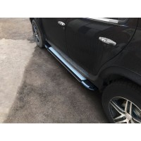 Боковые пороги Rainbow (2 шт., алюминий) для Dacia Duster 2008-2018