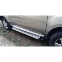 Боковые пороги Maya V2 (2 шт., алюминий) для Dacia Duster 2008-2018