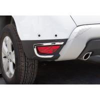 Накладки на задние рефлекторы 2 шт, нерж) Carmos - Турецкая сталь для Dacia Duster 2018+