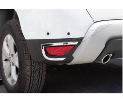 Dacia Duster 2018+ гг. Накладки на задние рефлекторы 2 шт, нерж) Carmos - Турецкая сталь