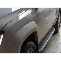 Боковые пороги Tayga Grey V2 (2 шт., алюминий) для Dacia Duster 2018+