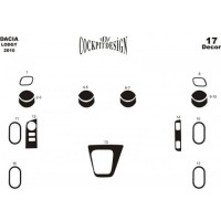 Накладки на панель Дерево для Dacia Lodgy 2013+