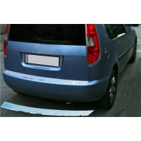 Накладка на задний бампер OmsaLine (нерж) Матовая для Dacia Lodgy 2013+