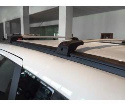 Dacia Lodgy 2013+ гг. Поперечины под ключ (2 шт) Серый