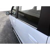 Окантовка вікон (4 шт, нерж.) OmsaLine - Итальянская нержавейка для Dacia Lodgy 2013+