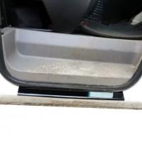 Накладки на пороги ABS (2 шт, пласт) Матовые для Dacia Logan I 2005-2008