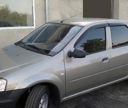 Dacia Logan II 2008-2013 гг. Ветровики (4 шт, ANV)