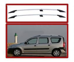 Dacia Logan MCV 2008-2014 гг. Рейлинги Хром Пластиковые ножки