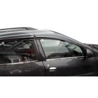 Наружняя окантовка стекол (4 шт, нерж.) Carmos - Турецкая нержавейка для Dacia Logan MCV 2008-2014
