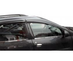Dacia Logan MCV 2008-2014 гг. Наружняя окантовка стекол (4 шт, нерж.) Carmos - Турецкая нержавейка