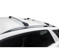 Dacia Sandero 2007-2013 гг. Поперечены на рейлинги без ключа (2 шт) Серый