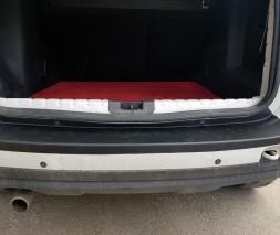Dacia Sandero 2013+ гг. Накладка на задний бампер EuroCap (ABS)