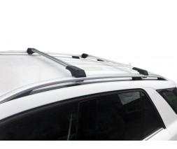 Dacia Sandero 2013+ гг. Поперечены на рейлинги без ключа (2 шт) Серый