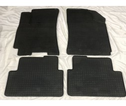 Daewoo Lanos Резиновые коврики (4 шт, Polytep)