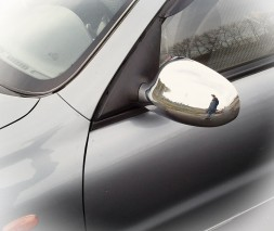 Daewoo Lanos Накладки на зеркала (2 шт) Хромированный пластик