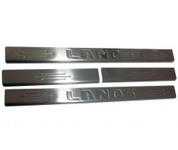 Daewoo Lanos Накладки на пороги Carmos (4 шт, нерж.)