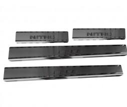 Dodge Nitro 2007↗ гг. Накладки на пороги Натанико (нерж) Стандарт - лента Lohmann, 0.5мм
