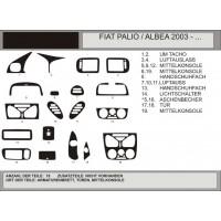Накладки на панель (Hartman) Светлый шпон для Fiat Albea 2002+