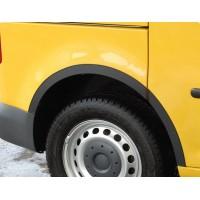 Накладки на арки (4 шт, черные) для Fiat Bravo 2008+