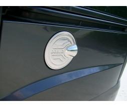 Fiat Doblo I 2001-2005 гг. Накладка на лючок бензобака (нерж.) Carmos - Турецкая сталь