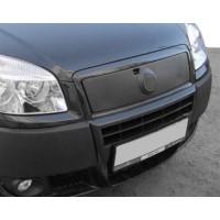 Верхняя зимняя накладка на решетку Глянцевая для Fiat Doblo II 2005+