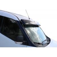 Козырек на лобовое стекло (черный глянец, 5мм) для Fiat Doblo III nuovo 2010+ и 2015+