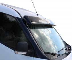 Fiat Doblo III nuovo 2010+ и 2015+ гг. Козырек на лобовое стекло (черный глянец, 5мм)