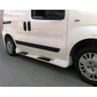 Боковые пороги Sorento тип (под покраску) для Fiat Fiorino / Qubo 2008+