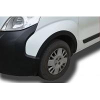 Накладки на арки (4 шт, черные) 1 боковая дверь, ABS-пластик для Fiat Fiorino/Qubo 2008+