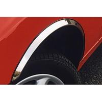Накладки на арки (4 шт, нерж) 1 боковая дверь, Полированная нержавейка для Fiat Fiorino/Qubo 2008+