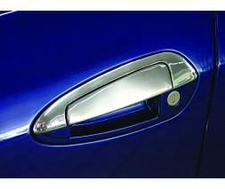 Fiat Linea 2006+ и 2013+ гг. Накладки на ручки с верхушкой (8 деталей, нерж.) OmsaLine - Итальянская нержавейка
