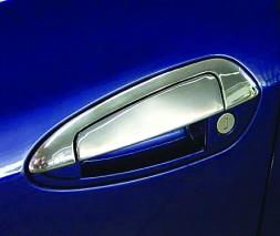 Fiat Linea 2006+ и 2013+ гг. Накладки на ручки с верхушкой (8 деталей, нерж.) Carmos - Турецкая сталь