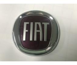Fiat Linea 2006↗ и 2013↗ гг. Значок (красный, самоклейка) 75 мм