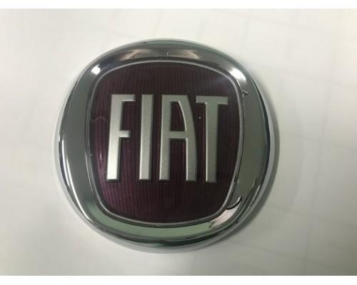 Fiat Linea 2006+ и 2013+ гг. Значок (красный, самоклейка) 75 мм