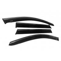Ветровики с хромом (4 шт, Niken) для Fiat Linea 2006+ и 2013+