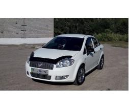 Fiat Linea 2006+ и 2013+ гг. Дефлектор капота (VIP)