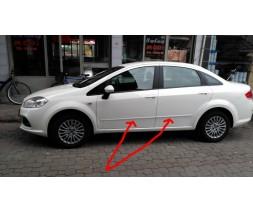 Fiat Linea 2006+ и 2013+ гг. Пластиковые молдинги (к-т)