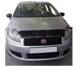 Fiat Linea 2006+ и 2013+ гг. Дефлектор капота (EuroCap)