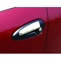 Накладки на ручки (4 шт, нерж) Carmos - Турецкая сталь для Fiat Linea 2006+ и 2013+