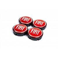 Колпачки в титановые диски 55 мм (4 шт) для Fiat Linea 2006+ и 2013+